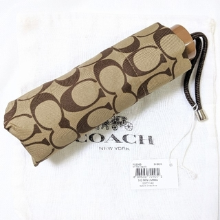 コーチ(COACH)のCOACH コーチ 折畳み傘 シグニチャー F63365(傘)