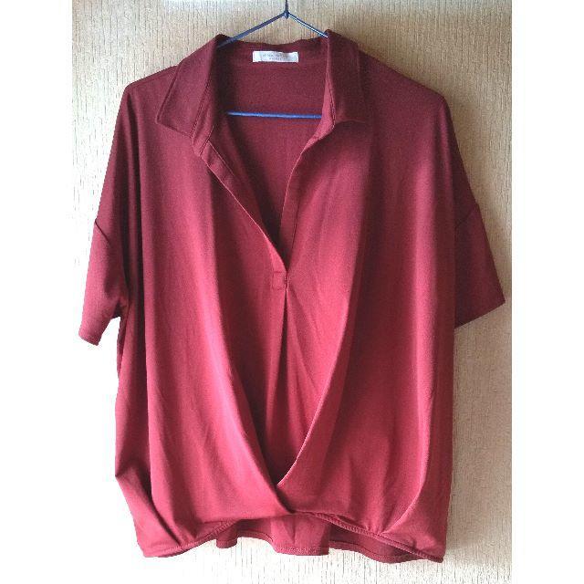 chocol raffine robe(ショコラフィネローブ)のchocol raffine◆エンジシャツ レディースのトップス(シャツ/ブラウス(長袖/七分))の商品写真