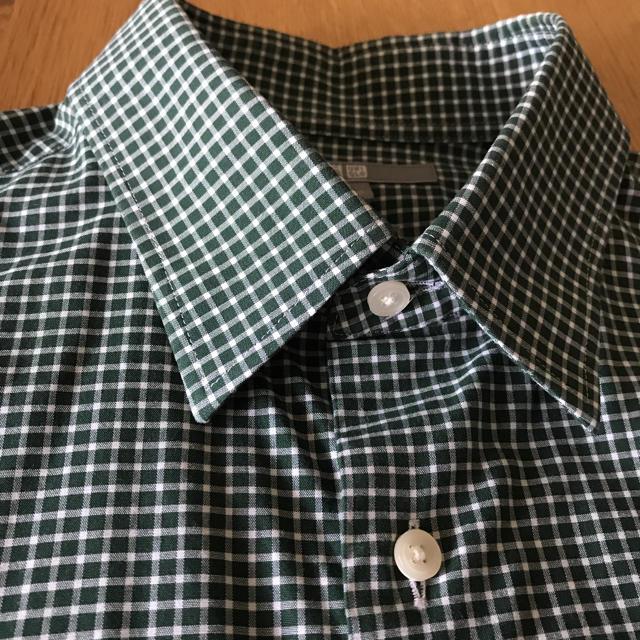 UNIQLO(ユニクロ)のUNIQLOユニクロメンズシャツ2枚セットMサイズ デニムシャツチェックシャツ メンズのトップス(シャツ)の商品写真