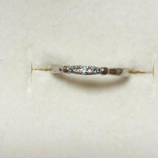 テイクアップ(TAKE-UP)のK10 WG ダイヤ TAKE-UP  テイクアップ  シンデレラ リング 指輪(リング(指輪))