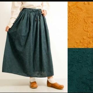 メルロー(merlot)のFillil/フィリル  総柄花刺繍エンブロイダリースカート(ひざ丈スカート)