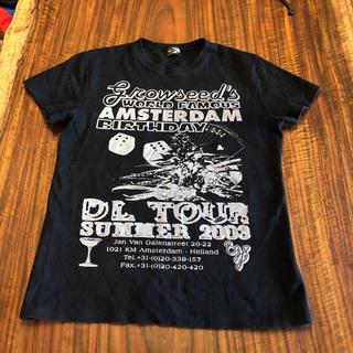 スライ(SLY)のSLY ブラック プリントTシャツ(Tシャツ(半袖/袖なし))