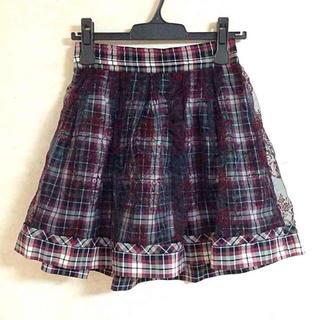 シークレットマジック(Secret Magic)のオーガンジースカート(ひざ丈スカート)