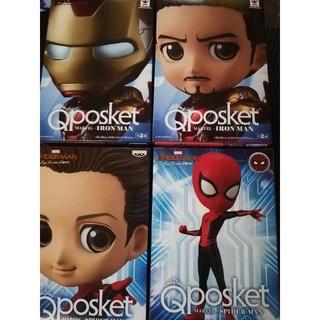バンプレスト(BANPRESTO)のQposket アイアンマン、スパイダーマン4種(アメコミ)