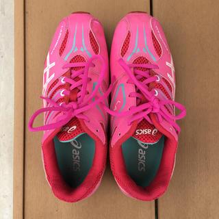 asics - asics レーザービーム 紐靴  23.5センチ