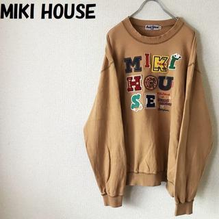 ミキハウス(mikihouse)の【人気】Miki HOUSE/ミキハウス ビッグロゴワッペンスウェット サイズM(スウェット)