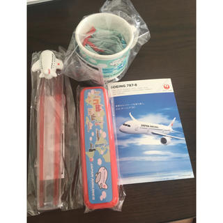 ジャル(ニホンコウクウ)(JAL(日本航空))のJAL キッズ カラトリーセット 新品未使用(カトラリー/箸)