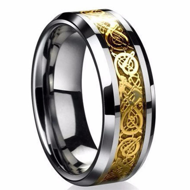ドラゴンデザイン指輪 リング 龍紋 メンズのアクセサリー(リング(指輪))の商品写真