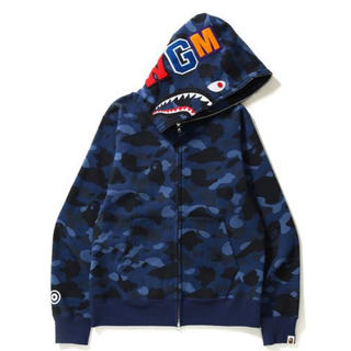 アベイシングエイプ(A BATHING APE)のA BATHING APE COLOR CAMO SHARK HOODIE(パーカー)