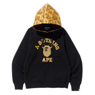 アベイシングエイプ(A BATHING APE)のAPE HEAD BE@R COLLEGE PULLOVER HOODIE(パーカー)