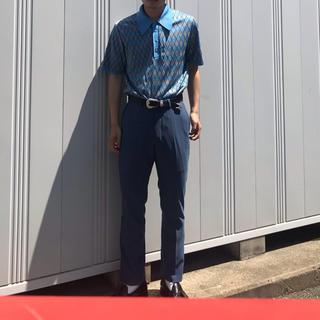 カルバンクライン(Calvin Klein)のgoffa 古着 スラックス ブルー(スラックス)