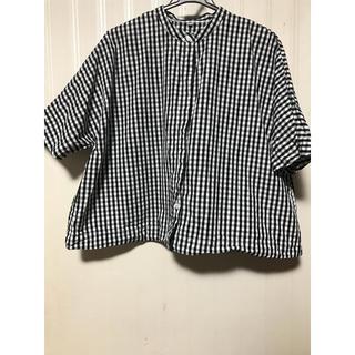 ムジルシリョウヒン(MUJI (無印良品))の無印良品 ギンガムチェックシャツ(シャツ/ブラウス(半袖/袖なし))