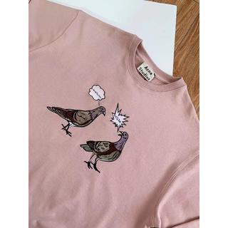 アクネ(ACNE)のAcneStudios アニマル刺繍 スウェットシャツ オーバーサイズ(パーカー)