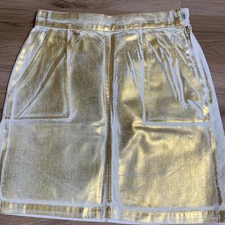 マウジー(moussy)のスカート ゴールド moussy(ミニスカート)