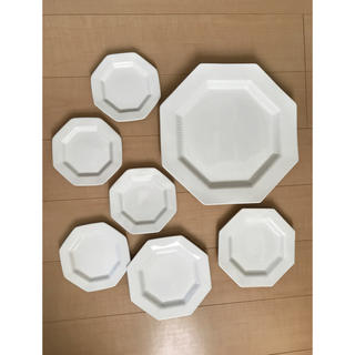 ニッコー(NIKKO)のNIKKO ニッコウ 廃盤 7枚セット 訳あり 八角形 白磁有田焼伊万里焼(食器)