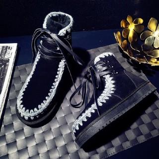 ショートブーツ ムートン スウェードブーツ 暖かいブーツ  (ブーツ)
