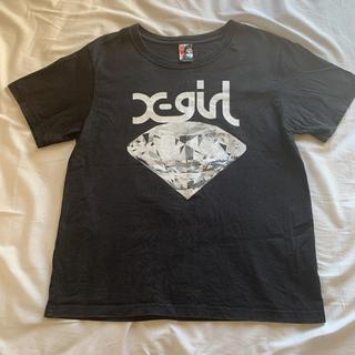 エックスガール(X-girl)のエックスガール Tシャツ ダイヤモンド 黒(Tシャツ(半袖/袖なし))