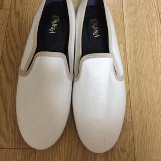 エスペランサ(ESPERANZA)のエスペランサ ぺったんこ靴 ホワイト(スニーカー)