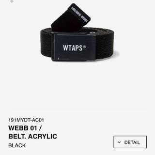 ダブルタップス(W)taps)のWTAPS 19SSベルト黒 19AWビーニー黒(ベルト)