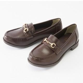 シマムラ(しまむら)のプチプラのあや ローファー Lサイズ 茶色(ローファー/革靴)