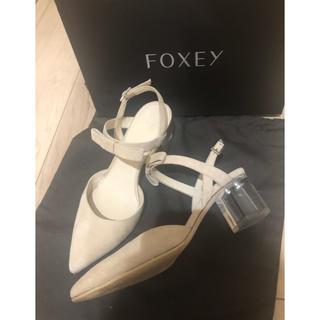 フォクシー(FOXEY)のFoxey リボンストラップシューズ 35サイズ(ハイヒール/パンプス)