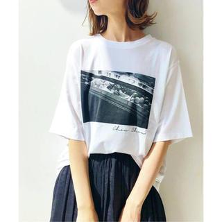 イエナ(IENA)の《新品未使用》IENA(イエナ) paris photo Tシャツ ホワイトC(Tシャツ(半袖/袖なし))