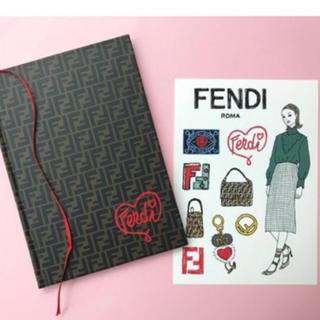 フェンディ(FENDI)のFENDI ロゴノートブック(ノート/メモ帳/ふせん)