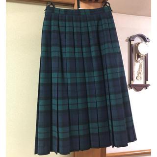 ユナイテッドアローズ(UNITED ARROWS)のチェックプリーツスカート(ひざ丈スカート)