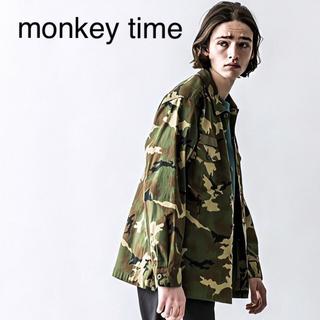 ビューティアンドユースユナイテッドアローズ(BEAUTY&YOUTH UNITED ARROWS)の《monkey time》BACK SATIN COMO UTILTY/シャツ(ミリタリージャケット)