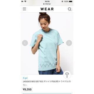 エックスガール(X-girl)の水色 Tシャツ(Tシャツ(半袖/袖なし))