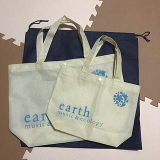アースミュージックアンドエコロジー(earth music & ecology)のショップ袋 3枚セット earth music & ecology (ショップ袋)