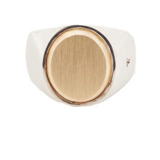 マルタンマルジェラ(Maison Martin Margiela)のTOMWOOD Oval Gold top ring(リング(指輪))