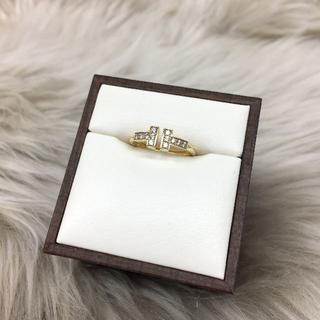 ティファニー(Tiffany & Co.)のティファニー Tワイヤー ダイヤリング 750YG(リング(指輪))
