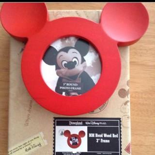 ディズニー(Disney)のミッキー フォトフレーム ディズニーワールド 未使用(フォトフレーム)