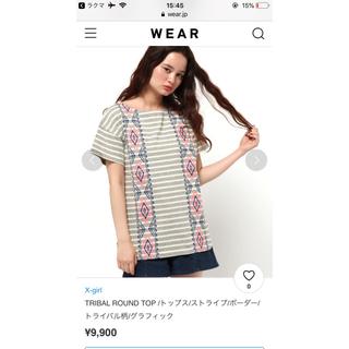 エックスガール(X-girl)のエックスガール Tシャツ トライバル(Tシャツ(半袖/袖なし))