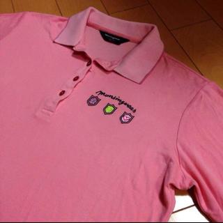 マンシングウェア(Munsingwear)のマンシングウェアレディース7分袖コットンポロ(ポロシャツ)