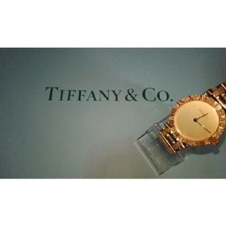 ティファニー(Tiffany & Co.)のTIFFANY&co・K18・ダイヤベゼル(腕時計)