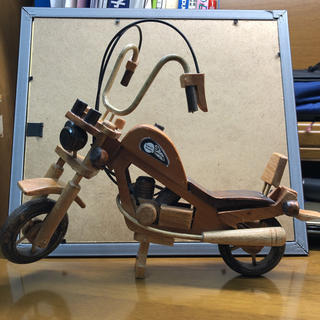 Harley Davidson - ハーレーダビッドソン  木製模型