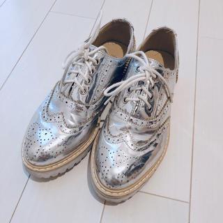 ウィングチップ シルバー シューズ(ローファー/革靴)