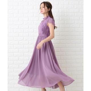 フレイアイディー(FRAY I.D)の専用レース×シフォンロングワンピース・ドレス(ロングドレス)