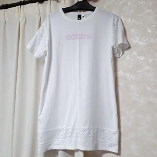 アディダス(adidas)のTシャツメッシュワンピース(ミニワンピース)
