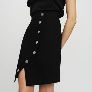 マージュ(maje)のパリの人気ブランド サイドボタン ペンシルスカート(ひざ丈スカート)