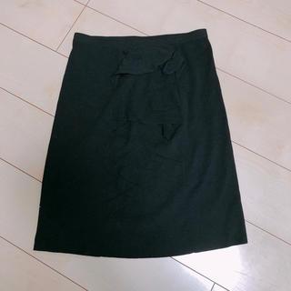 アンテプリマ(ANTEPRIMA)のアンテプリマ★美しいフリルウールタイトスカート(ひざ丈スカート)