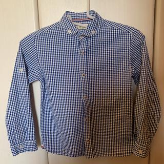 イッカ(ikka)の青ギンガムチェックシャツ Ikka 120センチ(Tシャツ/カットソー)
