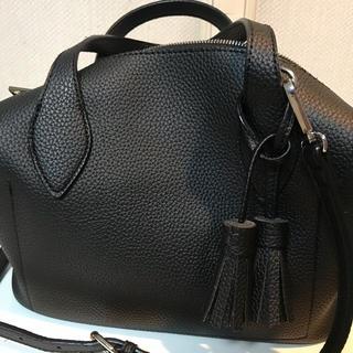 アーバンリサーチ(URBAN RESEARCH)の美品 ロデスコ RODE SKO 2wayボストン バッグ タッセル 黒(ハンドバッグ)