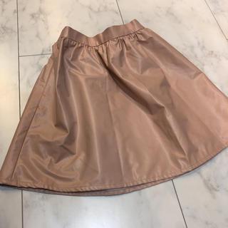 ジーユー(GU)の新品GU  ジーユー  フェイクレザースカート  モーヴピンク サイズ150(スカート)