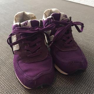 ニューバランス(New Balance)のニューバランス 古着 紫 パープル(スニーカー)
