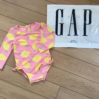 ベビーギャップ(babyGAP)の新品★ 80cm gap.水着 ラッシュガード レモン オールインワン(水着)