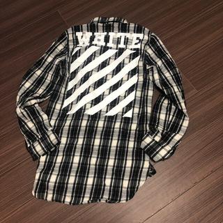 オフホワイト(OFF-WHITE)のオフホワイト チェックシャツ(シャツ)