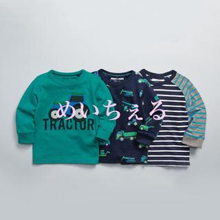 ネクスト(NEXT)の【新品】next グリーン トラクター柄長袖Tシャツ3枚組(ヤンガー)(シャツ/カットソー)